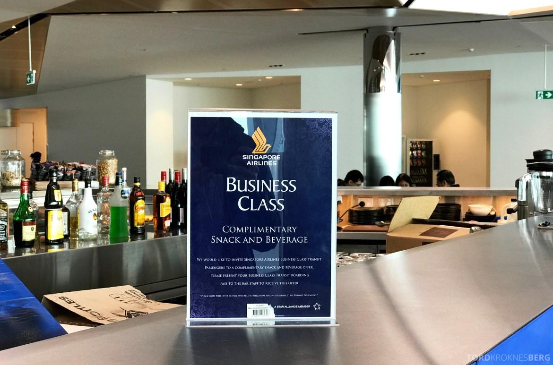 Singapore Airlines Business Class Canberra Wellington gratis mat