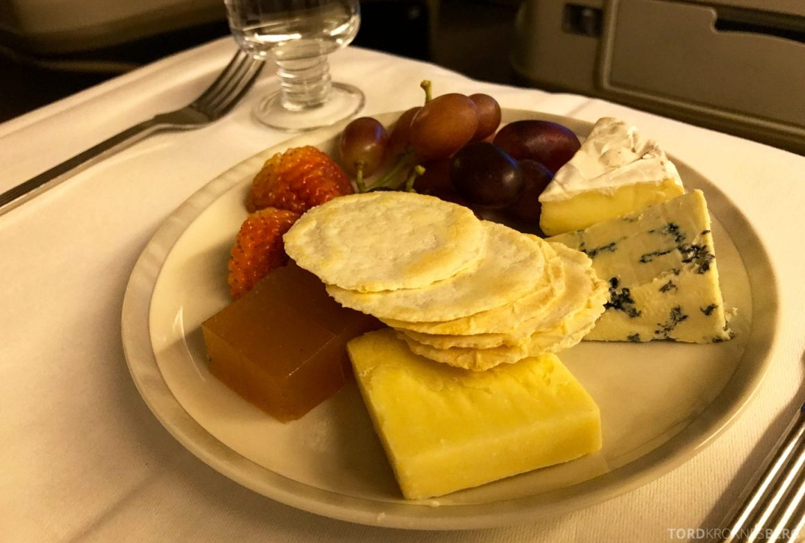 Singapore Airlines Business Class Wellington Canberra Changi dessert ost