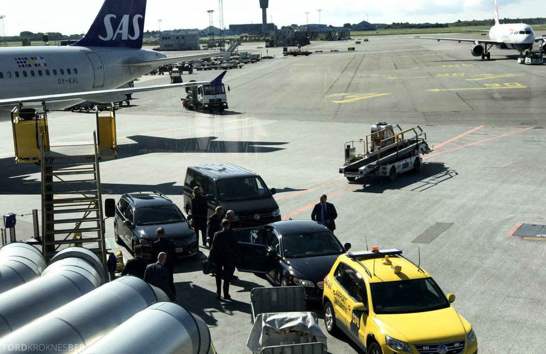 SAS Plus Oslo San Francisco kongelig eskorte