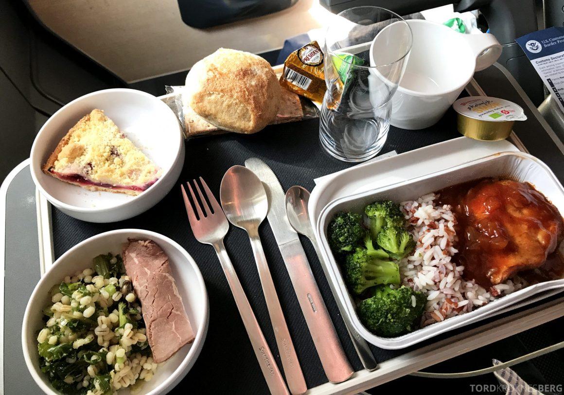 SAS Plus Oslo San Francisco måltid