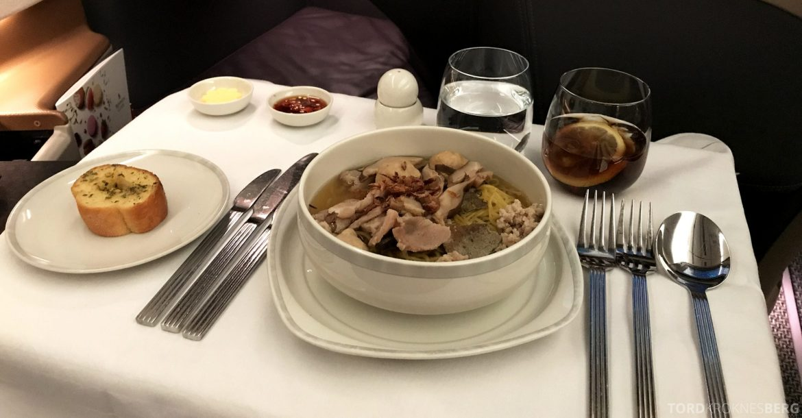 Singapore Airlines Business Class Moskva Stockholm hovedrett