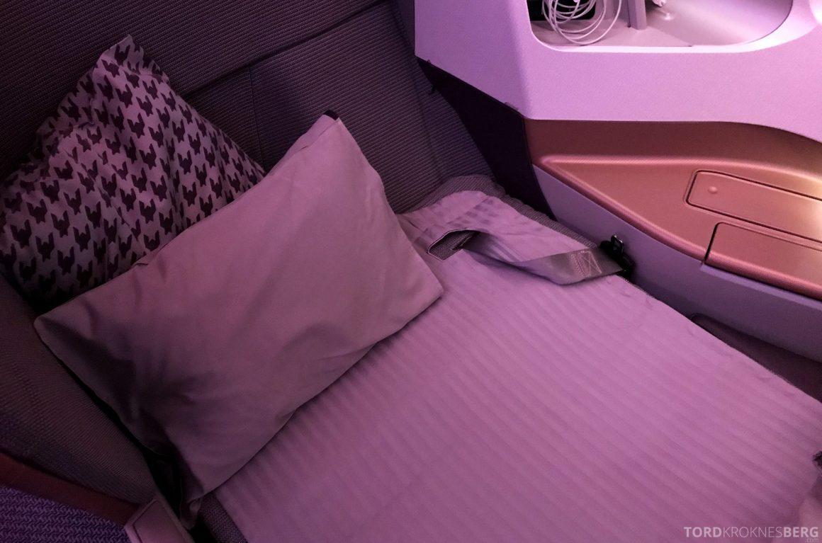 Singapore Airlines Business Class Moskva Stockholm seng