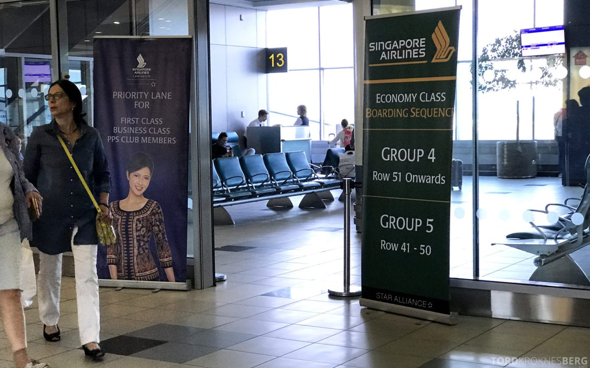 Singapore Airlines Business Class Moskva Stockholm gate