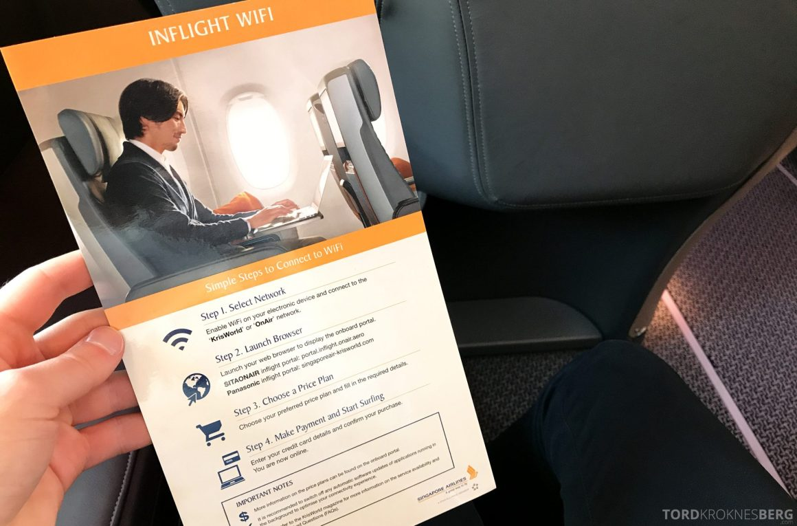 Singapore Airlines Business Class Moskva Stockholm Wi-Fi