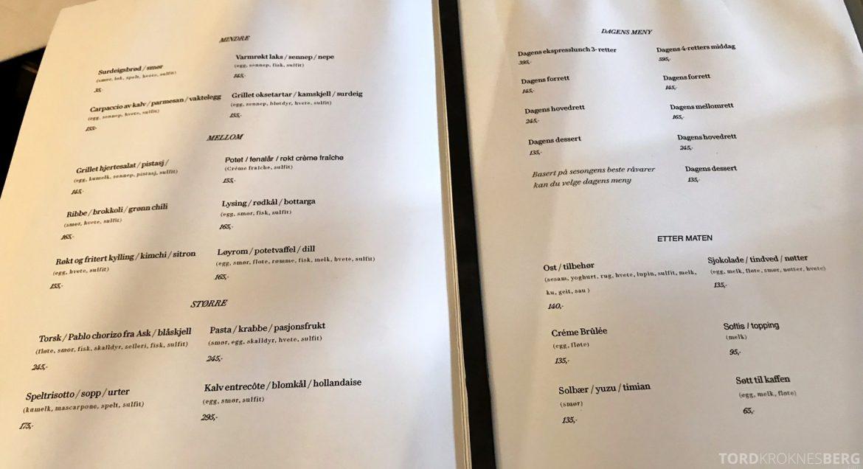Grand Café Oslo meny