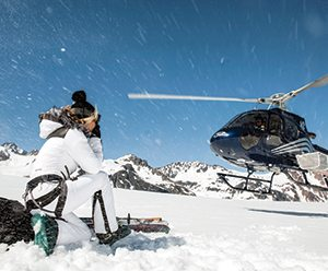 amy-at-tordrillo-heli-skiing