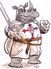 colour study for Rhinosferatu before he became a vampire