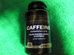 個人輸入のカフェインの錠剤