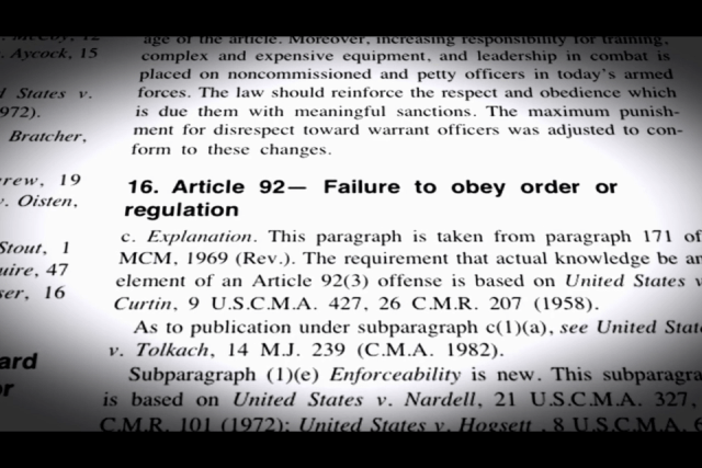 """Secretary of Navy """"You're Fired"""" UCMJ Article 92 Applies To All Military Personnel"""