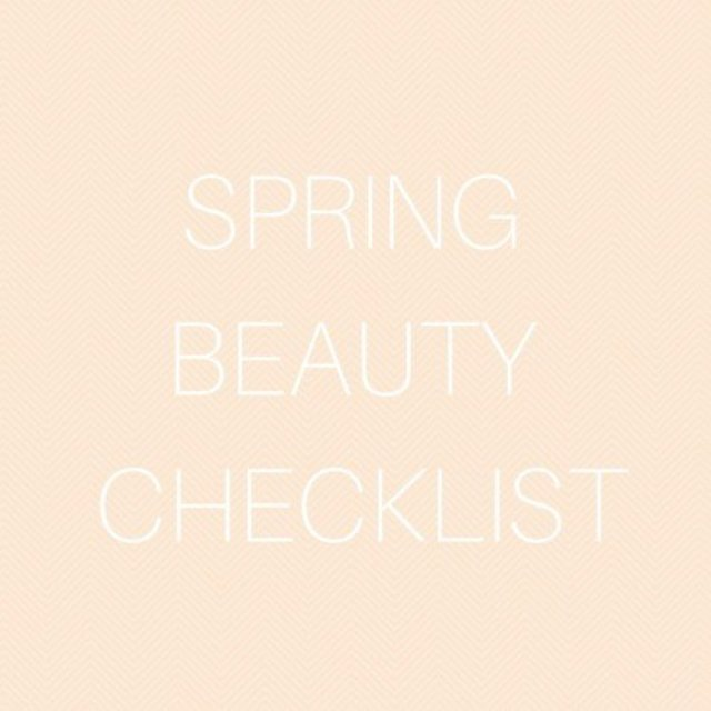 Spring Beauty Checklist