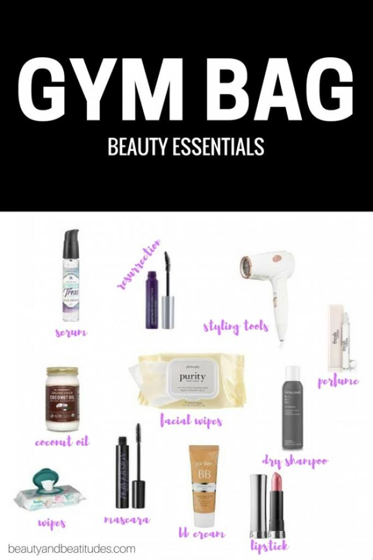 gym bag beauty essentials