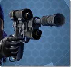 Kingpin's Blaster Pistol Front