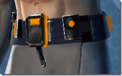 Ventilated Scalene Male Belt