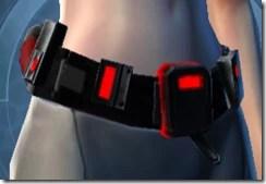 Red Scalene Female Belt