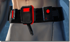 Red Scalene Male Utility Belt