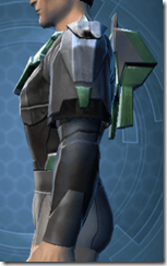 Oiled Jiguna Combat Jacket - Male Left
