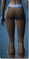 Guardsman's Greaves - Female Back