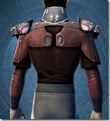 Reinforced Fiber Chestguard - Male Back