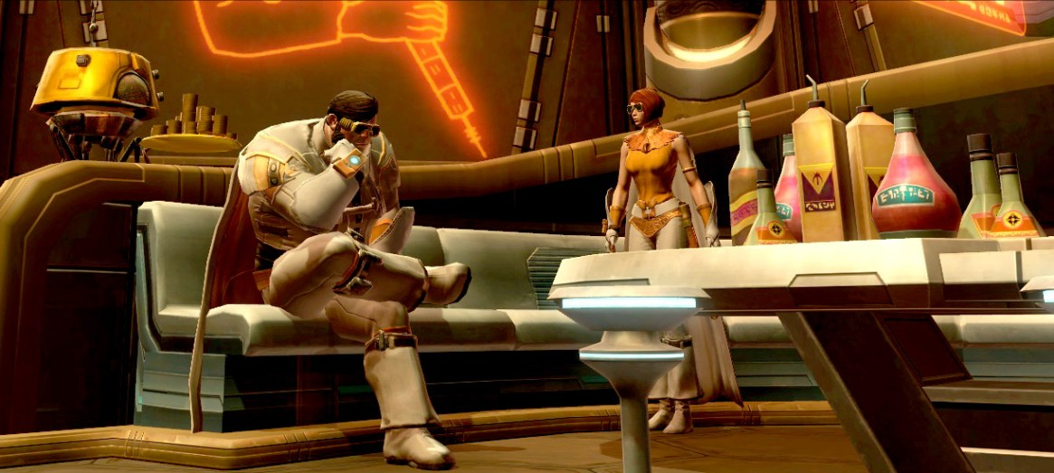 Sitting around waiting for some Jedi-business to turn up