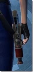 Crystalline Targeter's Blaster Pistol MK-3 Stowed