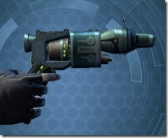 Decorated Targeter's Offhand Blaster MK-3 Right