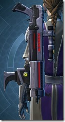 Rughteous Enforcer's Blaster Rifle Stowed