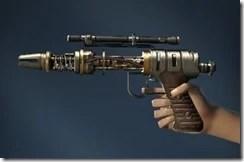 Unshielded Blaster Pistol Side