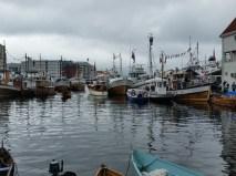 Det var ekstra tett med båtar i Vågen i år. Foto Espen Kutschera