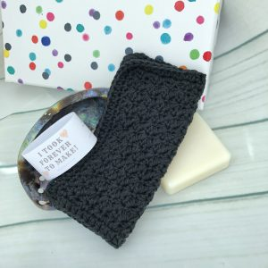 black cotton washcloth