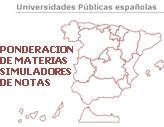 MAPA PONDERACION DE NOTAS UNIVERSIDAD