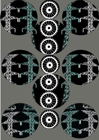 Circle Symbol pattern with grey