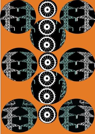 Circle Symbol pattern with orange