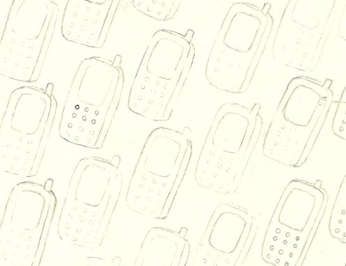 Mobile Phone Motif- Presise Design