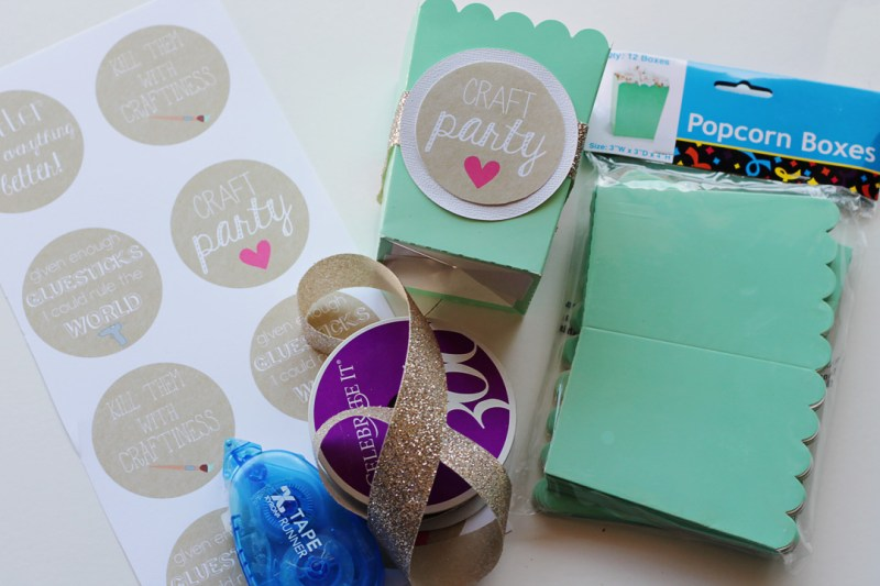 Craft Party Decorations Popcorn Boxes