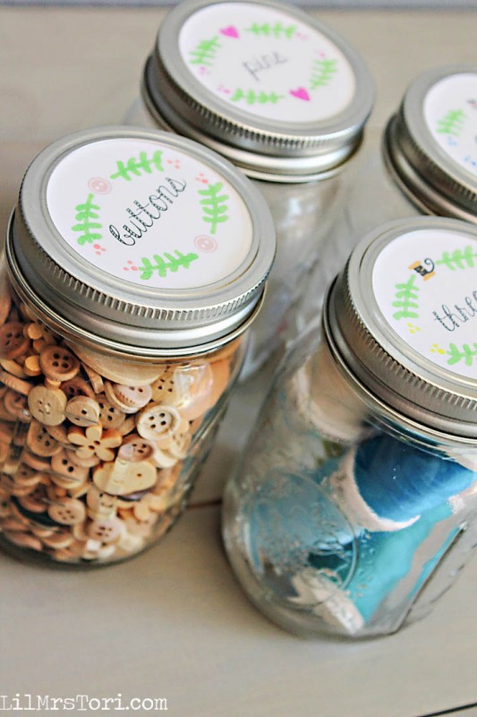 Mason Jar Craft Labels | Lil Mrs Tori