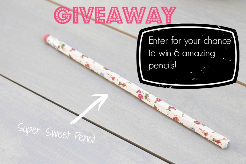 Giveaway for Washi Tape Pencil