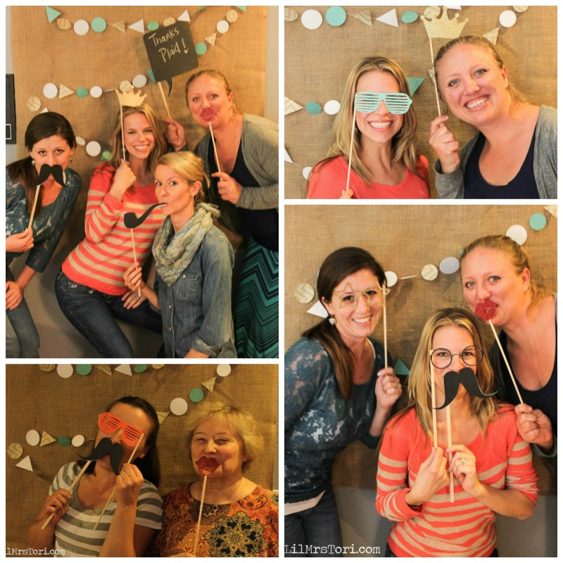 Photobooth Fun at Craft Party