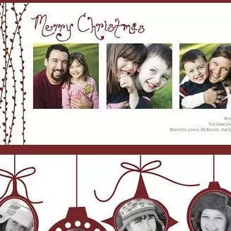 Assorted Photo Christmas Cards