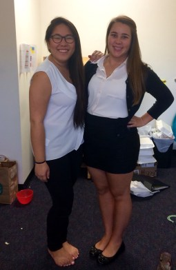 Before our interviews. We both did amazing (Charmaine is now a president host and I am a peer advisor)