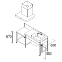DIYキッチンコンパクト型(加熱機器なし)