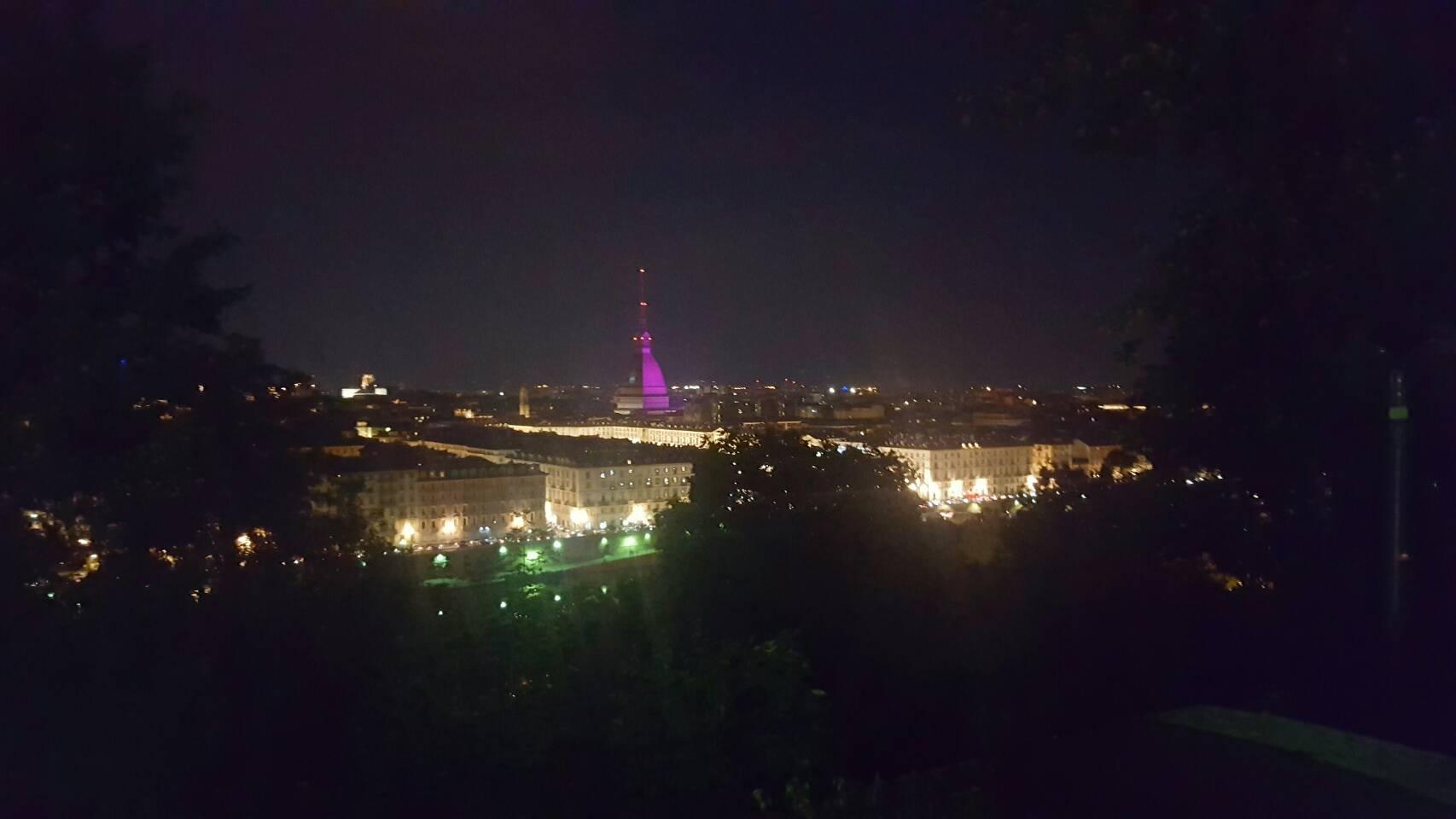 トリノの夜景を一望できるレストラン「Al monte dei Cappuccini」