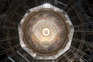 Torino, la cupola restaurata della Chiesa della Trinità.-6597