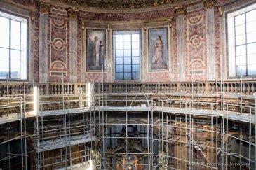 Torino, la cupola restaurata della Chiesa della Trinità.-6629