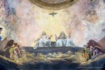 Torino, la cupola restaurata della Chiesa della Trinità.-6632