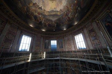 Torino, la cupola restaurata della Chiesa della Trinità.-6675