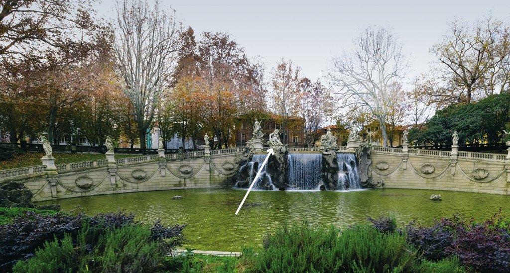 Fontana dei Dodici Mesi, panoramica