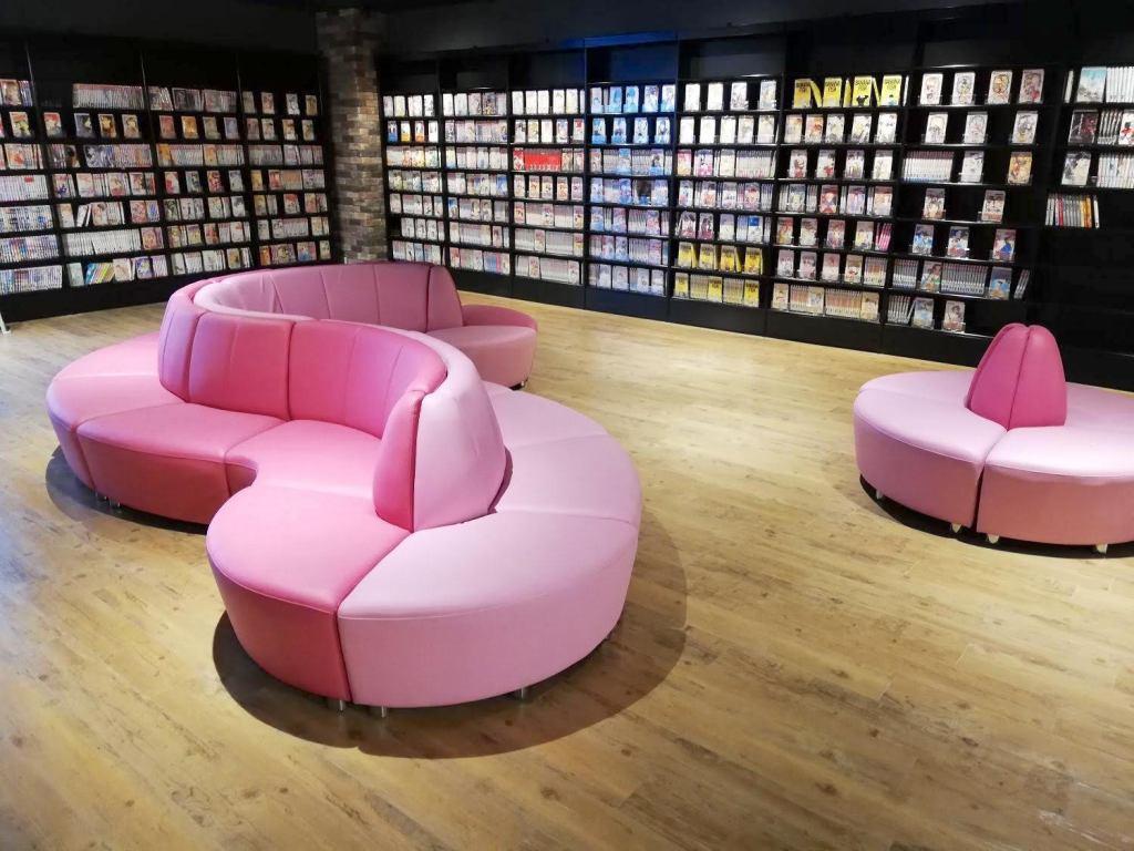 米子マンガミュージアムの椅子