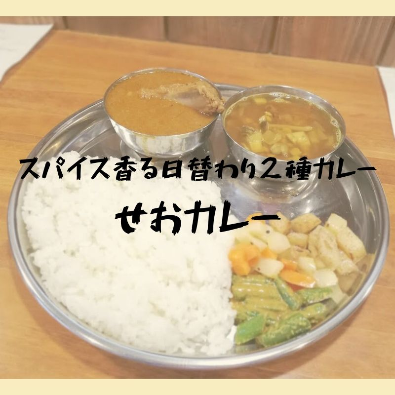 【6月13日オープン】二種類の日替わり本格カレー|せおカレー(松江市上乃木)