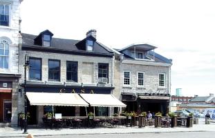 石灰石で作られた建物の並ぶキングストンの街並み
