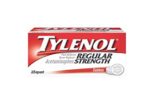 Tylenol(タイレノール) Regularタイプは325mg、Extra Strengthは500mgのアセトアミノフェンが配合されている。胃をほとんど刺激しないので、空腹時でも服用可。